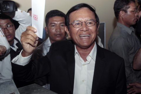Cambodian court eases detention of top opposition figure