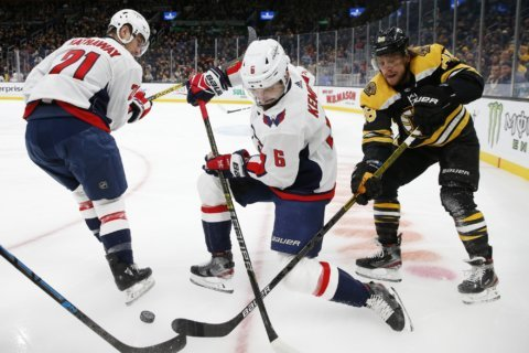 Oshie ties it, Caps beat Bruins 3-2 in shootout