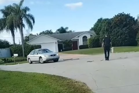Florida man's dog locks him out of car, does donuts