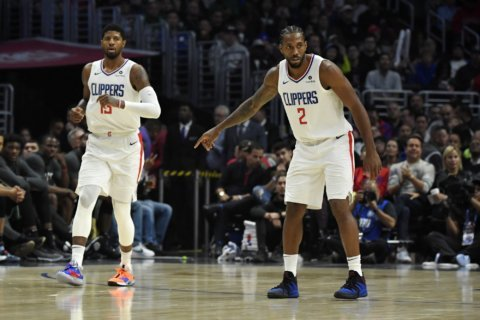 Clippers edge Celtics 107-104 in OT with Leonard and George