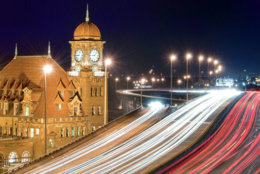 Anyone who has driven the eastern US on Interstate 95 would most likely remember seeing this Richmond Virginia landmark. The clock tower of the old Main Street Station rising above the elevated I-95 James River bridge.