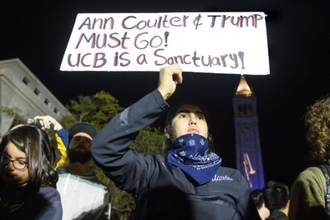 5 arrested at rally against Ann Coulter speech in Berkeley