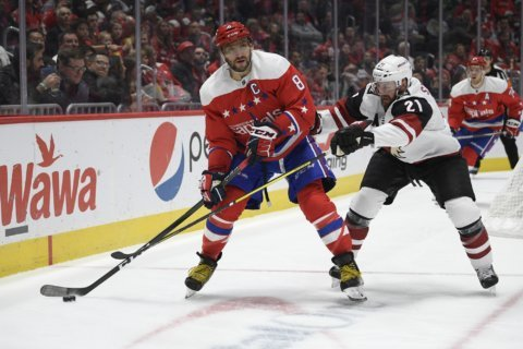 Oshie OT goal wiped out, Caps lose to Coyotes in shootout