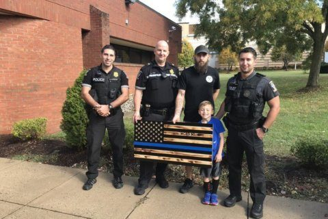 'Thin blue line' flag at Montgomery Co. police station stirs up controversy