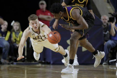 Funk scores 26 to lead Army over Navy 73-66