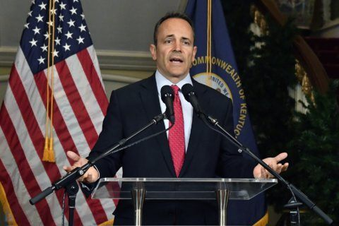 The Latest: GOP leader cautions Bevin about election dispute
