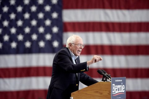 Sanders stars with Biden, Warren absent at California forum