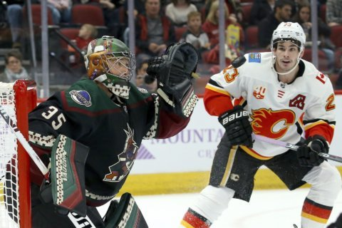 Kuemper records shutout, Coyotes beat Flames 3-0