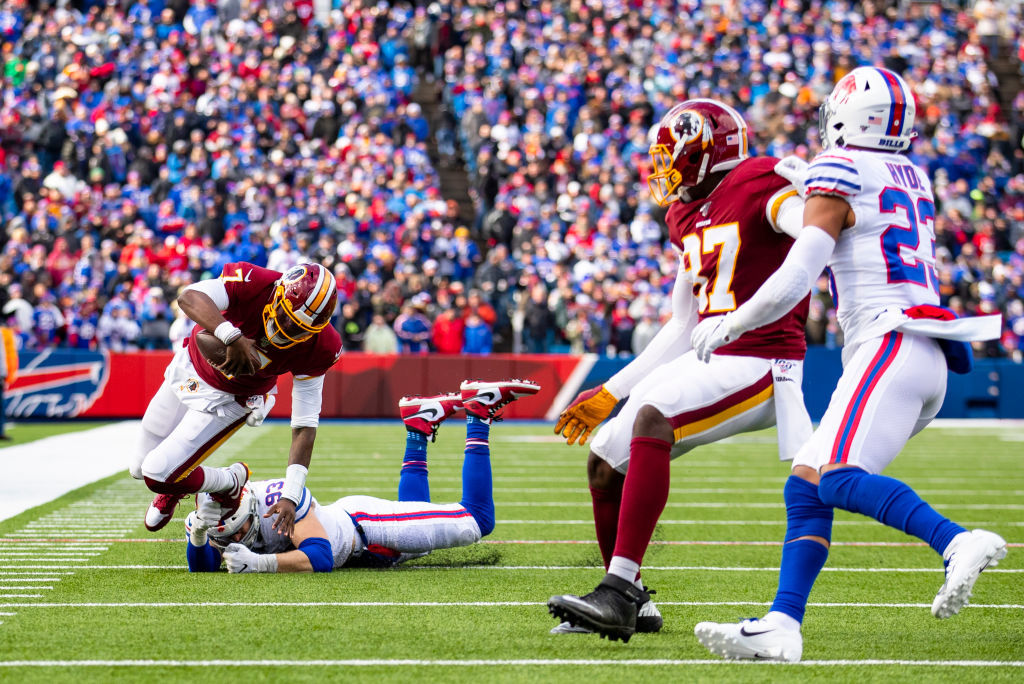 """<p><b><i>Redskins 9</i></b><br /> <b><i>Bills 24</i></b></p> <p>Vegas was right to <a href=""""https://profootballtalk.nbcsports.com/2019/10/30/buffalo-washington-has-this-seasons-lowest-over-under-at-36-5/"""">keep the over/under low</a>. The Redskins have gone 13 straight quarters without scoring a touchdown and Buffalo has only beaten teams with losing records. Even still, Dwayne Haskins proved what we already know; he&#8217;s the best QB on the roster by default and should be the starter.</p>"""