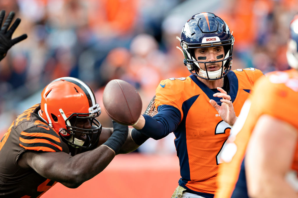 """<p><b><i>Browns 19</i></b><br /> <b><i>Broncos 24</i></b></p> <p>Denverentered this week as the only NFL team to have <a href=""""https://twitter.com/MikeKlis/status/1189166445831176193?s=20"""" target=""""_blank"""" rel=""""noopener"""">zero QBs on the roster who have taken an NFL snap.</a> However, Brandon Allen outplayed Baker Mayfield to deal Cleveland their fifth straight loss to a QB making his first career start. If you thought <a href=""""https://profootballtalk.nbcsports.com/2019/10/30/baker-mayfield-storms-away-from-media-after-dumbest-question-you-could-ask/"""">Baker was cranky before</a>, he&#8217;ll be in a <a href=""""https://profootballtalk.nbcsports.com/2019/11/03/jermaine-whitehead-threatens-critics-on-twitter-prompting-team-response/"""" target=""""_blank"""" rel=""""noopener"""">Jermaine Whitehead-like rage</a> this week — and considering the Browns are actually <a href=""""https://twitter.com/ESPNStatsInfo/status/1191162489242865664?s=20"""">worse than they were last year</a>, should probably change more than just <a href=""""https://profootballtalk.nbcsports.com/2019/11/03/browns-wrs-ordered-to-change-shoes-at-halftime-as-broncos-lead-17-12/"""">their shoes</a>.</p>"""