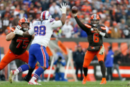 """<p><b><i>Bills 13</i></b><br /> <b><i>Browns 19</i></b></p> <p>Buffalo has the record (6-3) we thought Cleveland would have at this point in the season, and the 3-6 Browns have the record we suspected the Bills would have at this point of the season. This game was less upset and more course correction, especially for the team with a QB <a href=""""https://profootballtalk.nbcsports.com/2019/11/06/baker-mayfield-shaved-out-of-superstition-then-because-i-didnt-deserve-it/"""" target=""""_blank"""" rel=""""noopener"""">constantly correcting his facial hair</a>.</p>"""