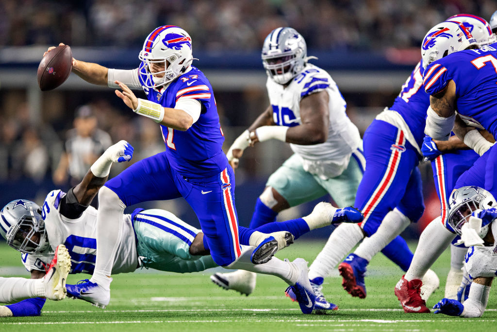 """<p><b><i>Bills 26</i></b><br /> <b><i>Cowboys 15</i></b></p> <p>In a battle of teams with winning records despite an inability to beat other teams with winning records, Josh Allen <a href=""""https://profootballtalk.nbcsports.com/2019/11/29/bills-loved-josh-allens-superman-sneak/"""" target=""""_blank"""" rel=""""noopener"""">played like Superman</a>, Cole Beasley scored on his former team and Buffalo solidified its place as the top AFC wild card, while the only wild card in Dallas is whether Jason Garrett can finish well enough to warrant a return to Jerry Jones&#8217; doghouse in 2020.</p>"""