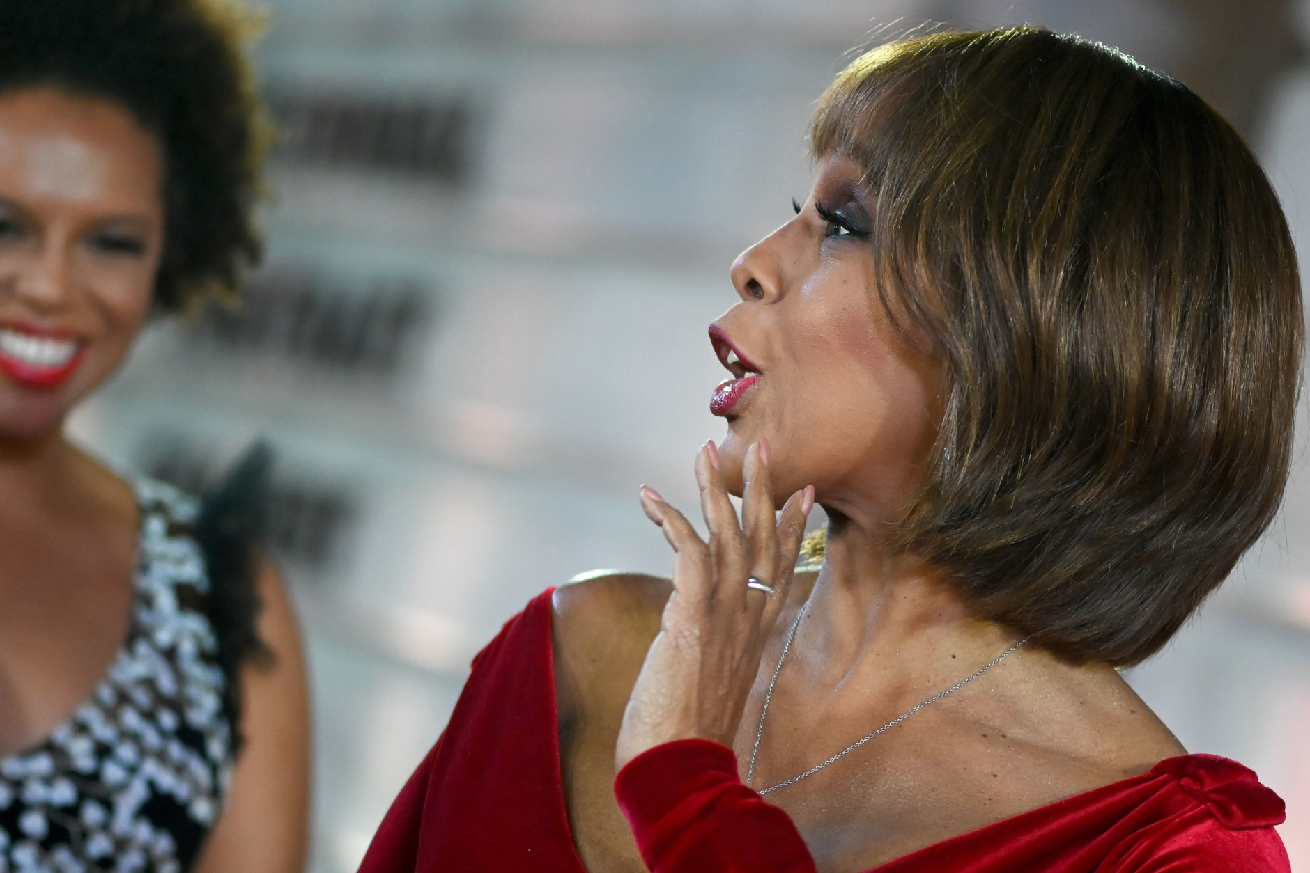 """<p>Journalist Gayle King served as the gala's master of ceremonies.</p> <p dir=""""ltr"""">&#8220;Representation matters,&#8221; Sajet said. &#8220;When you can walk into the gallery maybe as someone who&#8217;s come from an immigrant family or an African American or someone who wants to have a career in fashion or design and you can see portraits of people who have done that, you can start imagining larger futures for yourself. … These portraits of the individuals we&#8217;re honoring are paving the way for the next generation and leaving the best behind for us to pick up and move forward. That really at the end of the day is the point of the whole event.&#8221;</p>"""