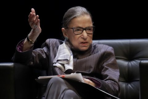 Ruth Bader Ginsburg returns to court after hospital stay