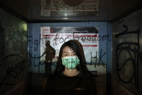 AP Photos: Portraits of Hong Kong's masked protesters