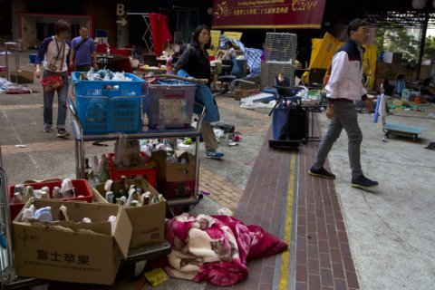 The Latest: Hong Kong police to enter university for cleanup