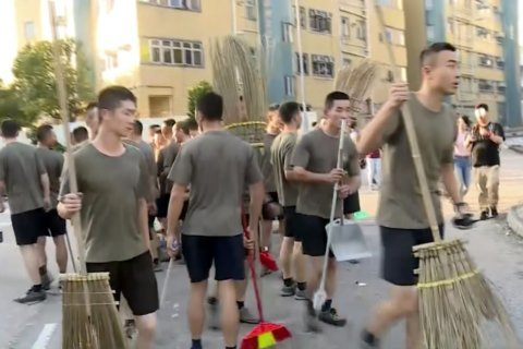 Q&A: The Chinese troops in Hong Kong and what they can do