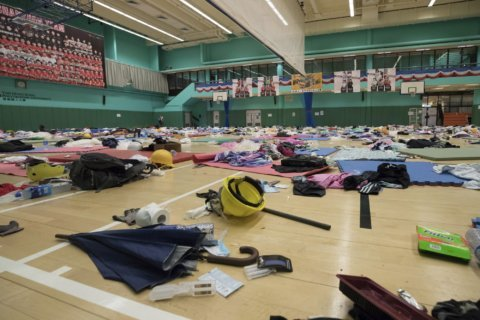 AP Photos: Once a protest fortress, Hong Kong campus quiet
