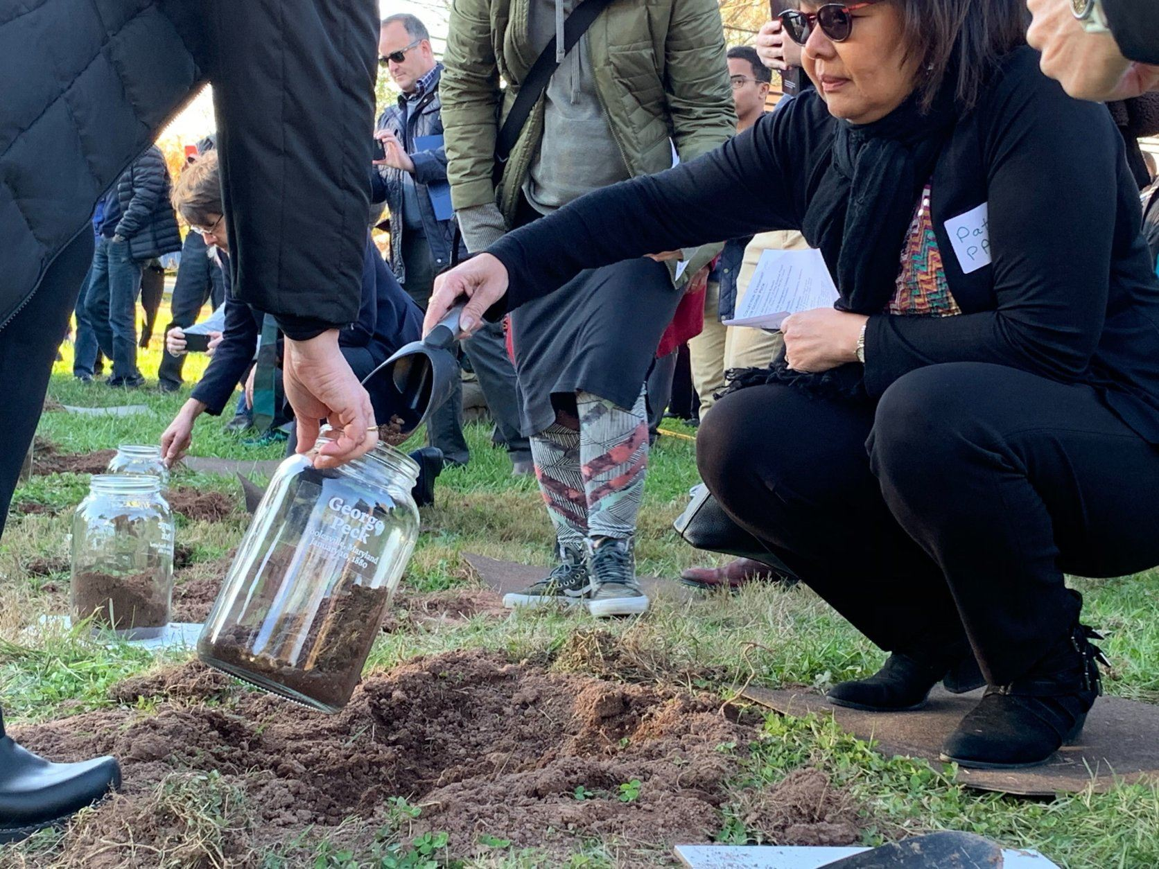 A large group gathered in Montgomery County Sunday afternoon to help reconcile with and heal wounds from the County's past...by remembering the life of a man who died by lynching in 1880