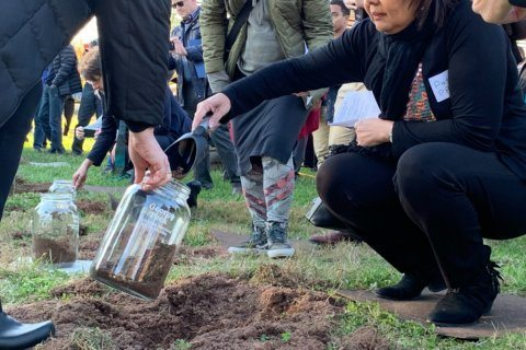Soil collection ceremony honors one of Montgomery County's lynching victims