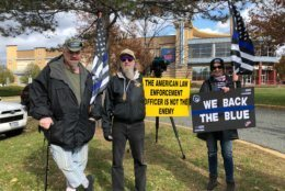 <p>People turned out at the 5th district police precinct with the group &#8220;Brothers Before Others.&#8221;</p>