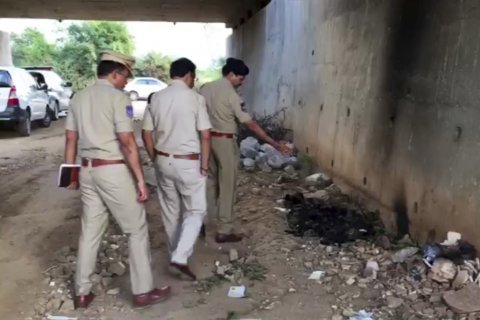 Indian police find burned body of woman in suspected rape