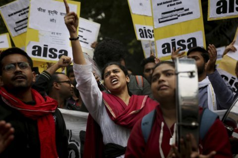 Indian students protest increased housing fees at university
