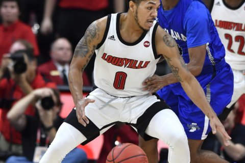 Nwora leads No. 4 Louisville past Indiana State 91-62