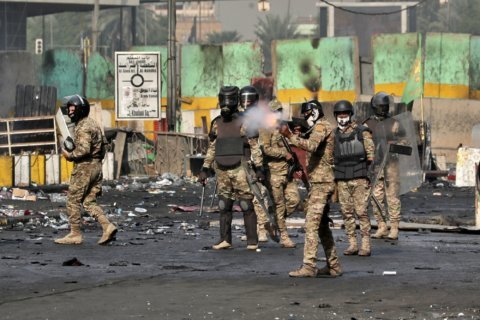 The Latest: Iraq: 2 more protesters killed in Baghdad
