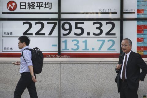 World stocks edge up ahead of US jobs report