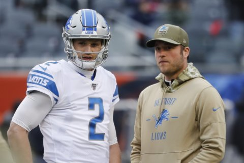 Stafford sits as Lions lose 20-13 to Bears