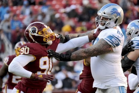 Redskins come back to beat Lions; Haskins misses final snap