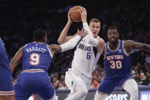 Knicks spoil Porzingis' return to New York, win 106-103