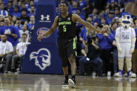 Hall's layup gives Michigan State tough win over Seton Hall
