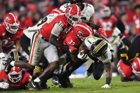 No. 5 Georgia visits No. 13 Auburn to highlight SEC slate
