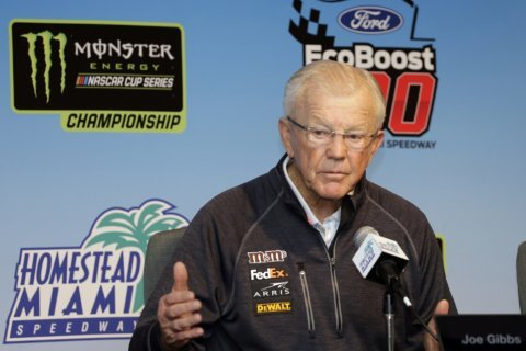 NASCAR championship push tinged with sadness for Joe Gibbs