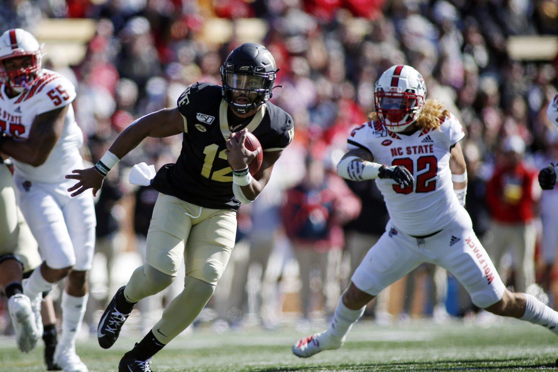 <p><strong>No. 19 Wake Forest (7-1):</strong> Beat Clemson, win out, win ACC title, get a two-loss conference champion elsewhere</p> <p>The ultimate outsider, Wake's been hurt by a bad ACC that hasn't afforded them many quality wins. Had Virginia Tech beaten Notre Dame last week, it would have lent a bit more juice to this weekend's matchup. But it all comes down to a date at Clemson next week. Wake needs to win every game from here on out, and probably get an upset from one of the higher-rated conferences. But there's still a path there.</p>