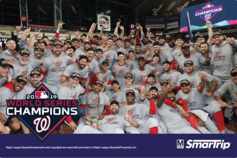 Finish the ride: Metro to issue Nats' World Series commemorative SmarTrip cards