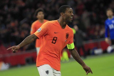 Wijnaldum grabs hat trick as Netherlands beat Estonia 5-0