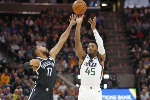 Jazz rally for 119-114 win over Nets
