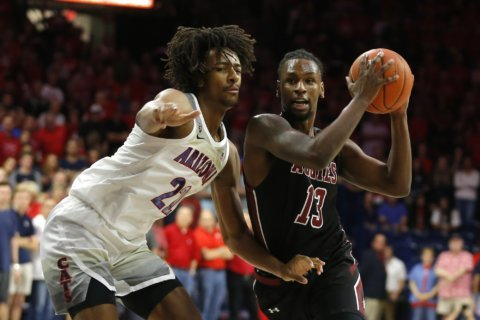 No. 19 Arizona runs past short-handed New Mexico State 83-53