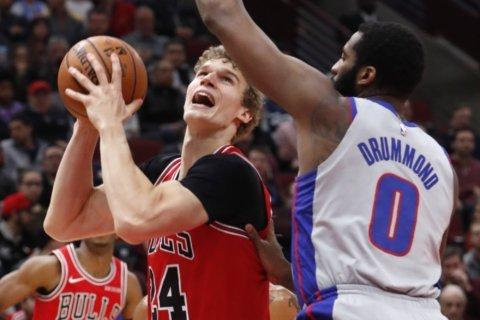 Markkanen scores 24, Bulls beat Pistons 109-89