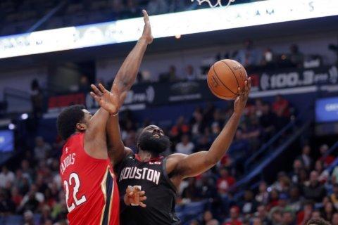 Harden scores 39 points as Rockets beat Pelicans 122-116
