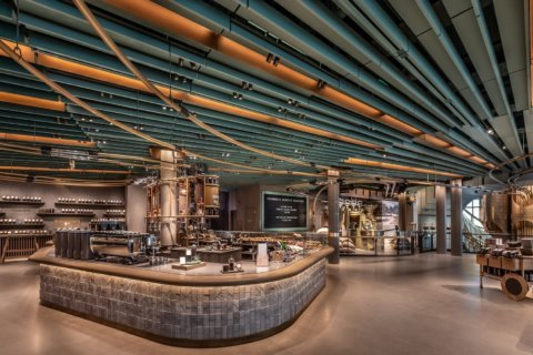 Starbucks opens its biggest store ever