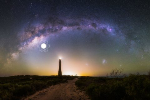 Spectacular images of the Milky Way galaxy captured by telescope in Australian outback