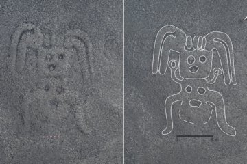 More than 140 ancient geoglyphs were found carved in the sands of Peru