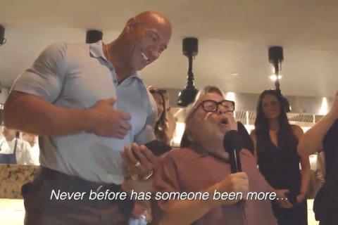 Dwayne 'The Rock' Johnson crashes wedding with Danny DeVito