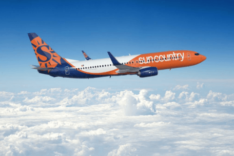 Sun Country Airlines lands at BWI Marshall Airport