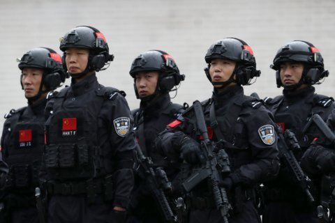 Chinese security forces in joint anti-terror drill in Serbia