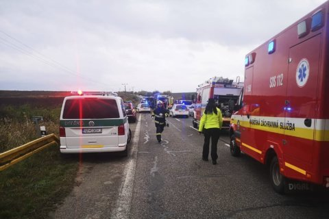 Officials: At least 13 dead in Slovakia bus crash